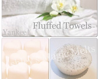 3 fluffy towels yankee candle soy wax melts, designer dupe melts, strong wax melts, laundry wax, cheap wax, fresh scented tart melts