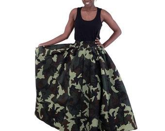 CamoKouture Maxi Skirt