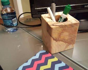 Cherry Wood Pencil Holder