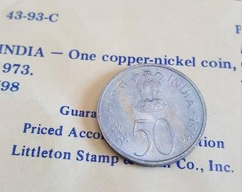 India  50 Paise 1973 UNC