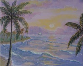 Evening on the ocean