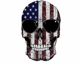 American Flag Punisher Skull Decal