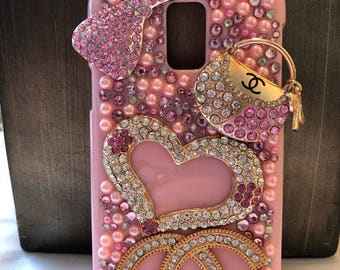 Pink Samsung S5 Bling Phone Case