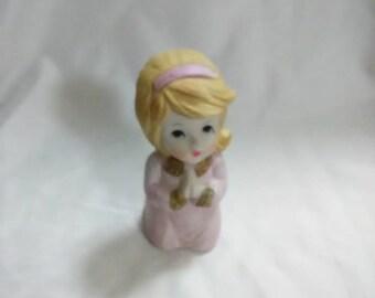 Vintage praying girl figurine