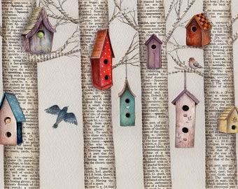 Bird Village art print