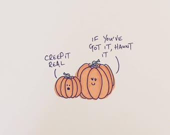 Creep It Real Original Drawing