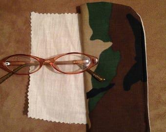 Camouflage Eyeglass Case/Unisex Eyeglass Case