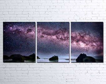 The Milky Way 3pc Wall Canvas