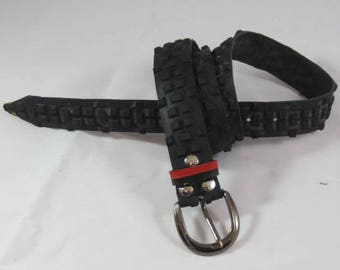 Belt created with bicycle tire