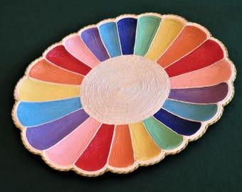 Rainbow Oval Tray
