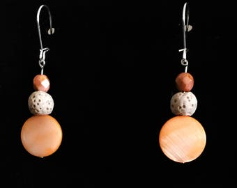 Peach Colored Diffuser Earrings