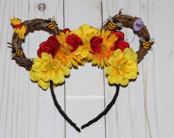 Winnie The Pooh Floral Ears