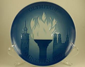 1972 Bing and Grondahl Munich Olympic plate