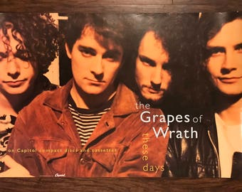 Grapes of Wrath label album release poster 30 x 20 Capitol, 1991