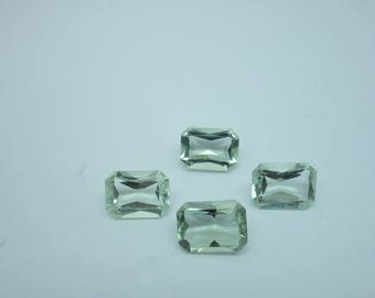 4 Pieces Lot 11x15 MM Green Amethyst Octogan Shape 31x88 Carat Weight Good Quality Loose Gemstone Bead