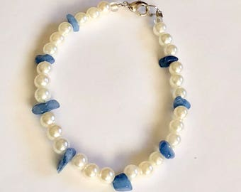 Pearl and Stone Bracelet