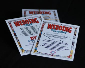 Comic Book Style Wedding Invitation