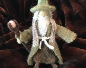 Needle Felted Wizard with Staff