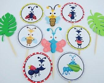Bugs cupcake topper (10)