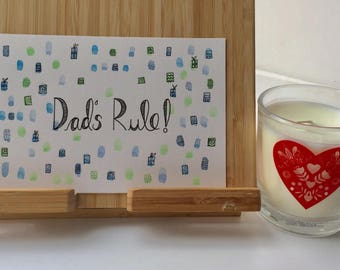 Dad's Rule- Typogoraphy and Illustration- Quote