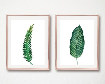 set of 2 leaf