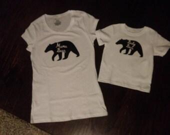 Mama and Baby Bear T-shirts