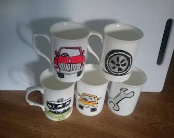 mugs set of 5