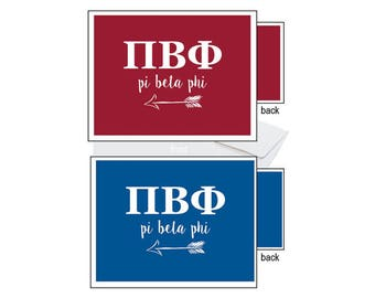 Pi Beta Phi Notecards - Letters
