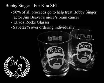 Bobby Singer - For Kira  SET - 50% proceeds go to help Jim Beaver's niece Kira fight Brain Cancer, Supernatural gift, Jim Beaver