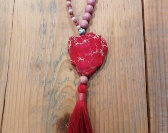 XL natural stones necklace