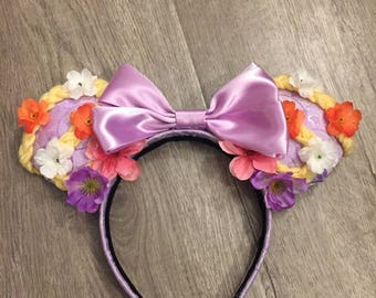 Rapunzel-Inspired Minnie Mouse Ears