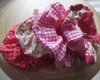 Set of 4 fabric scrunchies