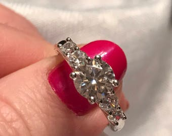 Five stone CZ Engagement Ring