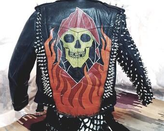 Punk studded jacket