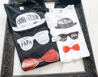 Partner T-shirt-Papa + son cool team