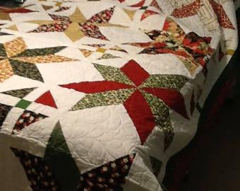 Big Christmas star quilt