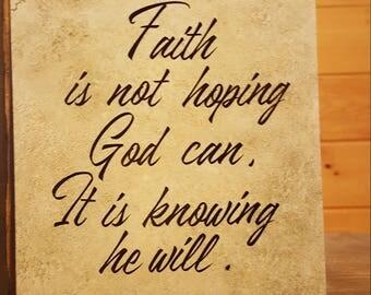 Faith, ceramic tile, vinyl