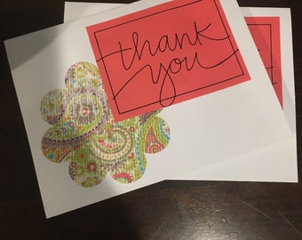 Thank you card with flower