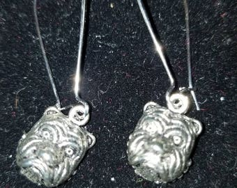 Boutique Silver Alloy ...Bulldog Earrings for Georgia Football Fans...go Bulldogs!  #C63