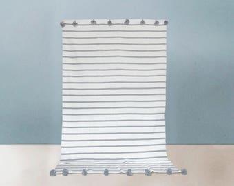 Cotton Pom pon blanket - Manta de pompones de algodon