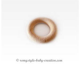 48 mm raw natural beech wood ring