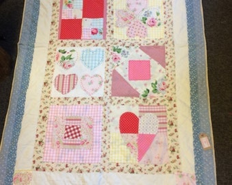 Handmade reloved bedspread or throw.