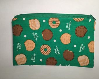 Girl Scout Cookie Zipper Pouch