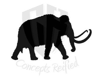 Woolly Mammoth Reusable Stencil - Multiple Sizes Available