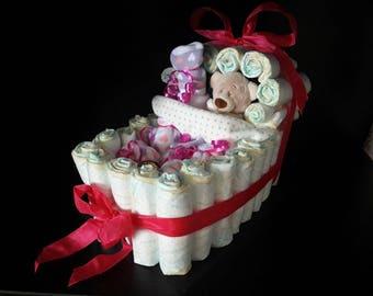 Diaper gift Baby//pram//baby//diaper cake//Christening Gift