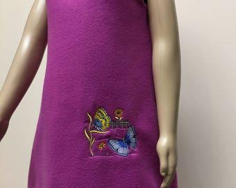 Embroidered Sleeveless Girl Dress Purple Dress Children Clothing