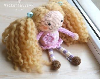 Crochet doll Mia Amigurumi toy
