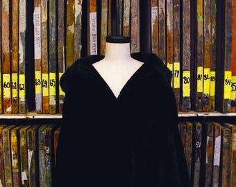 Vintage Vestra Black Faux Fur Coat