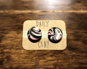 Polymer Clay Earring 10mm