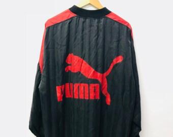 FREE SHIPPING!!! Vintage 90's Puma Windbreaker Big Logo Extra Large Size